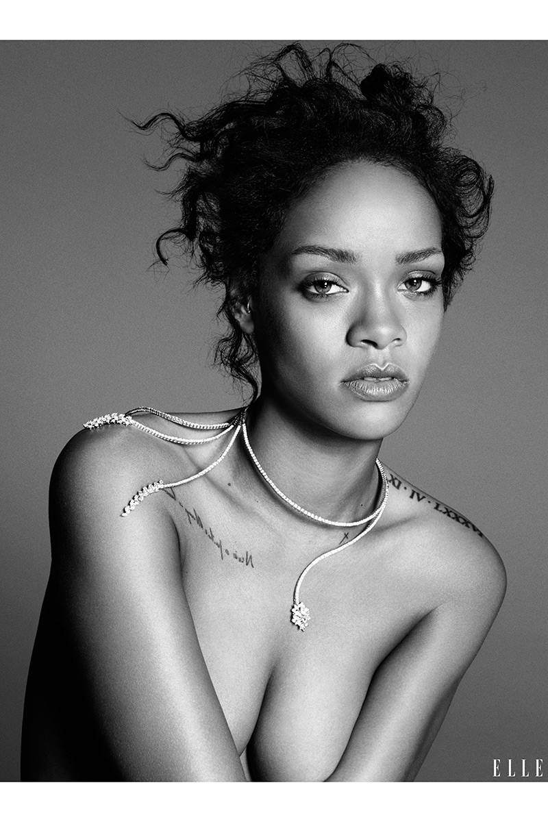 Alxis: Rihanna's Risque Cover Shoot For ELLE Magazine
