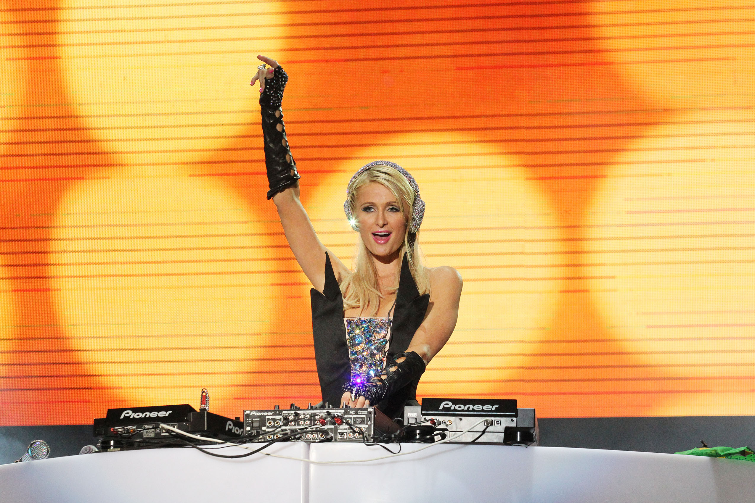 Paris Hilton performed her DJ debut at the Pop Music Festival in Sao Paulo, Brazil, in front of thousands of ecstatic fans. She took the stage for an hour and clearly loved the attention and was totally at home on stage. The end of the show was capped with a pyrotechnic display, and Paris went down to meet fans who crowded the stage area to get a chance to meet and greet her. Pictured: Paris Hilton Ref: SPL409588 240612 Picture by: Splash News Splash News and Pictures Los Angeles: 310-821-2666 New York: 212-619-2666 London: 870-934-2666 photodesk@splashnews.com