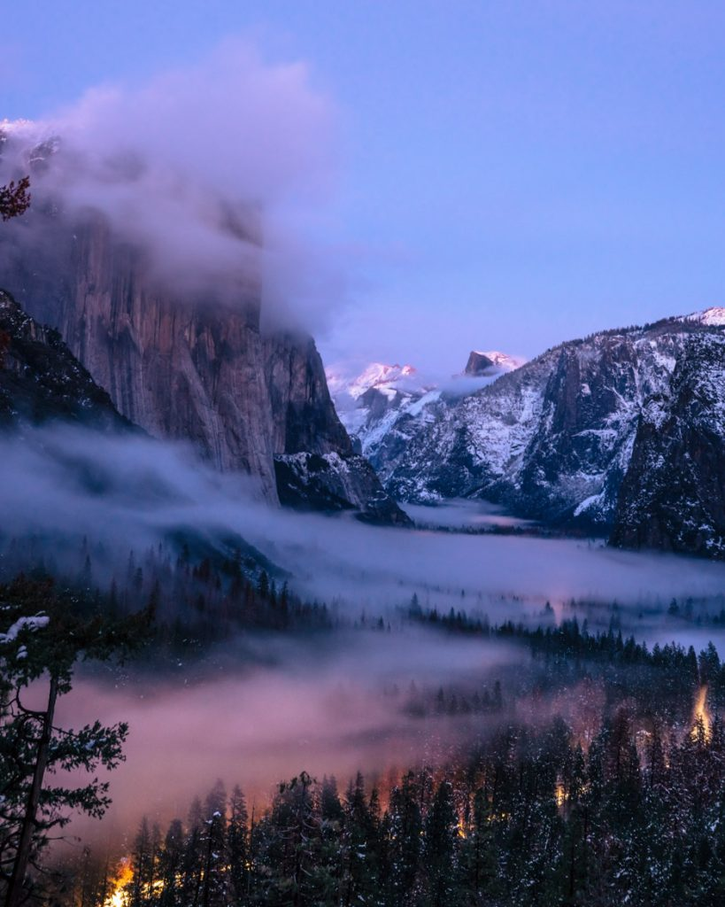 13. Yosemite foggy evening