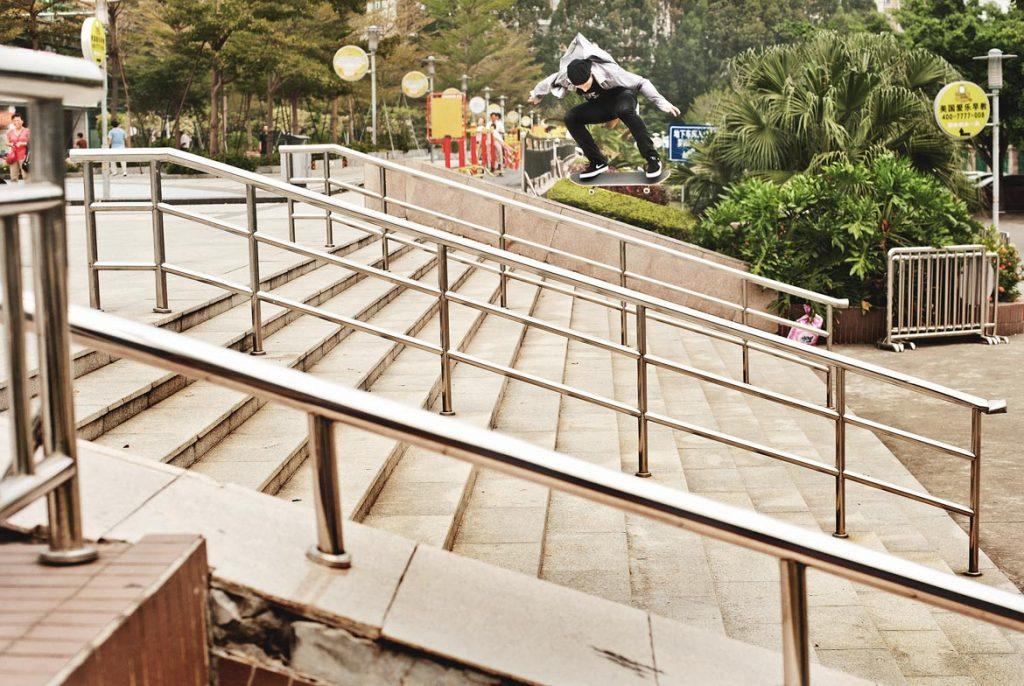Shane O'neill - Switch heelflip. Shenzhen, China 2014