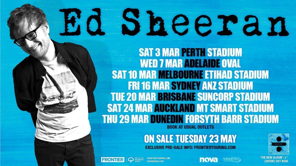 Ed Sheeran Nz Tour