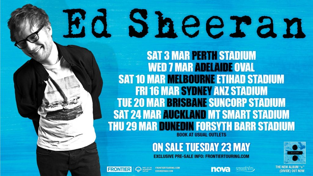 Ed Sheeran Announces Australian Stadium Tour For March