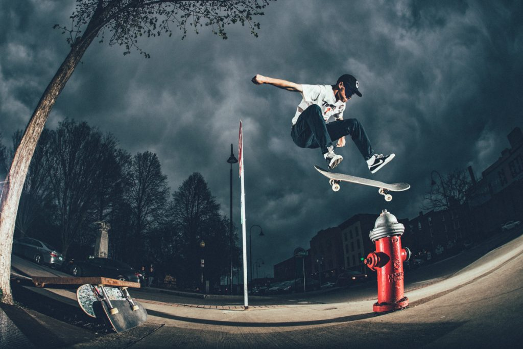 Nate Dugan-Kickflip over Fire Hydrant