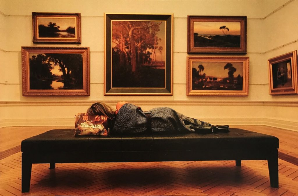 Sleeping at the gallery