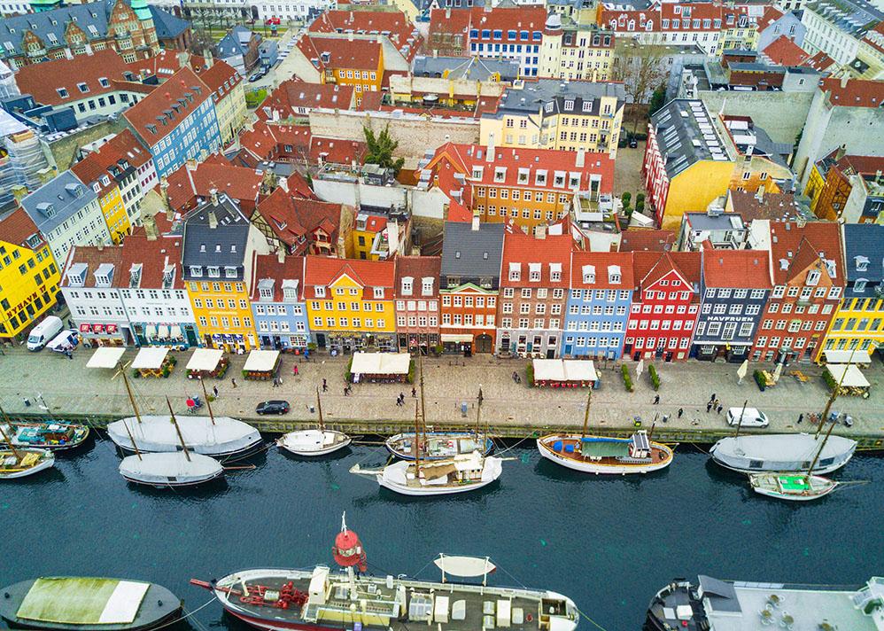 One of my favorite photos, captured with my drone over Nyhavn in Copenhagen