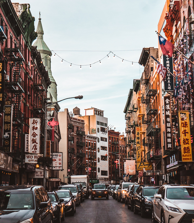 The warm and vibrant Chinatown in New York