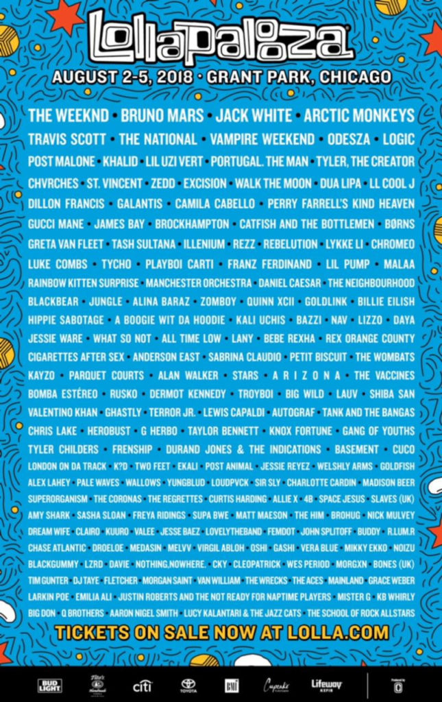 lollapalooza announces massive 2018 lineup worth flying to